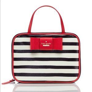 Julia Street Stripe Manuela Makeup Train Case Bag